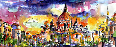 Saint Peter Basilica Rome Italy Print by Ginette Callaway
