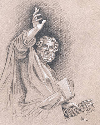 Art Print featuring the drawing Saint Peter by Joe Winkler