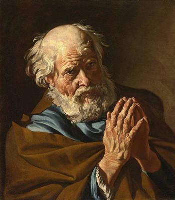 Painting - Saint Peter Praying by Matthias Stom