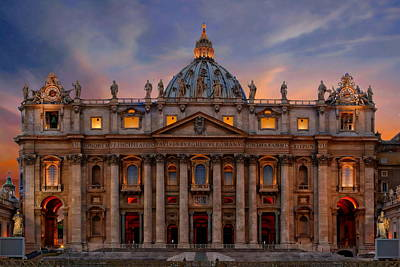 Photograph - Saint Peter's Basilica by Anthony Dezenzio