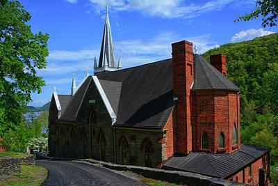 Photograph -  Saint Peters Roman Catholic Church In Harpers Ferry West Virginia by Raymond Salani III