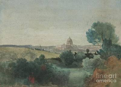 Cities Seen Painting - Saint Peter's Seen From The Campagna by George Snr Inness
