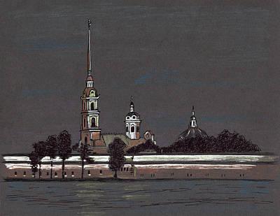 Painting - Saint-petersburg. Peter And Paul Fortress. Night by Masha Batkova