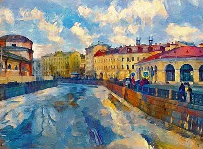 Digital Art - Saint Petersburg Winter Scape by Yury Malkov
