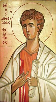 Byzantine Icon Painting - Saint Philip by Filip Mihail
