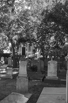 Photograph - Saint Phillips Cemetery 6 Bw by Gordon Mooneyhan