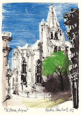 Art Print featuring the painting Saint Pierre Avignon Provence by Martin Stankewitz