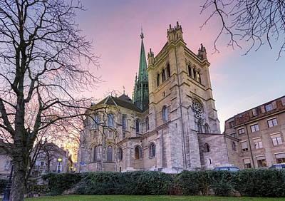 Photograph - Saint-pierre Cathedral In Geneva, Switzerland by Elenarts - Elena Duvernay photo