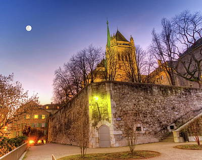 Photograph - Saint-pierre Cathedral In Geneva, Switzerland, Hdr by Elenarts - Elena Duvernay photo