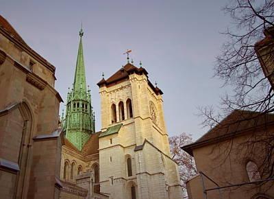 Photograph - Saint-pierre's Cathedral In Geneva, Switzerland by Elenarts - Elena Duvernay photo