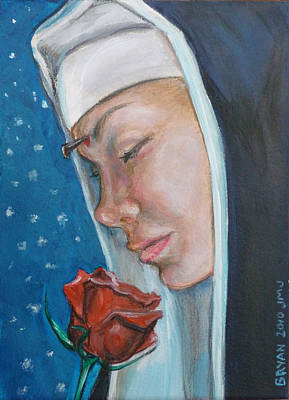 Painting - Saint Rita Of Cascia by Bryan Bustard