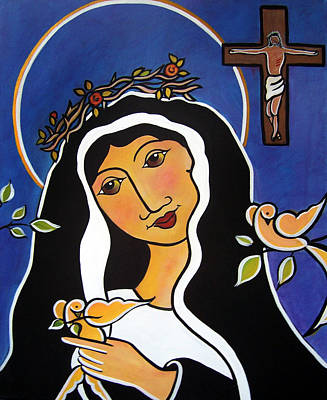 Painting - Saint Rita - Patron Of Impossible Causes by Jan Oliver-Schultz