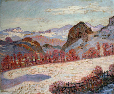 Winter Scenes Painting - Saint Sauves D'auvergne by Jean Baptiste Armand Guillaumin