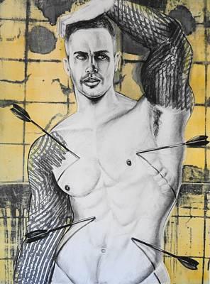 Icon Drawing - Saint Sebastian by Carmine Santaniello