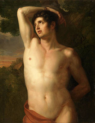 Painting - Saint Sebastian by Christian Gottlieb Schick