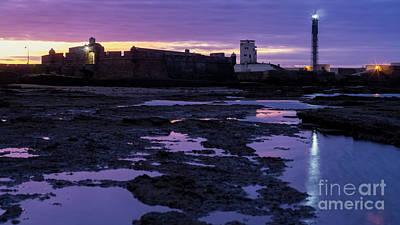 Photograph - Saint Sebastian Lighthouse Cadiz Spain by Pablo Avanzini