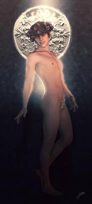 Holy Digital Art - Saint Sergius In Pink by Joaquin Abella
