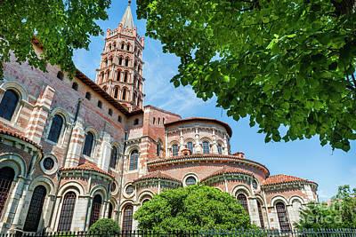 Basilica Photograph - Saint Sernin Basilica by Elena Elisseeva