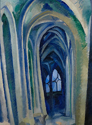 Saint-severin Art Print by Robert Delaunay
