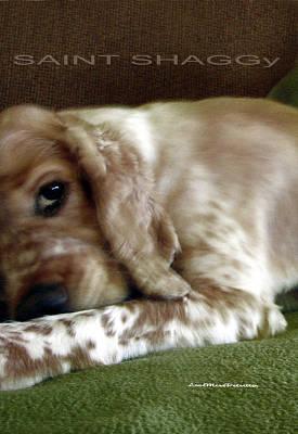 Buy Dog Art Digital Art - Saint Shaggy Poster 7 by Miss Pet Sitter