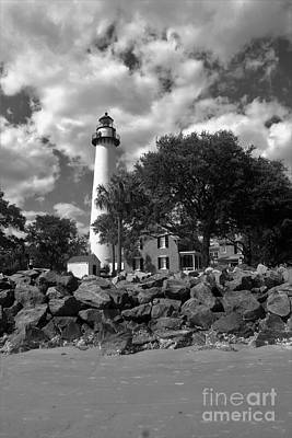 Bay Photograph - Saint Simons Lighthouse by Chuck Hicks