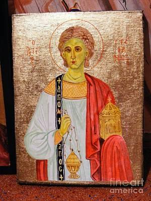 saint Stephan Art Print by Ciocan Tudor-cosmin