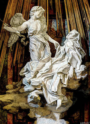 Photograph - Saint Teresa By Bernini by Weston Westmoreland