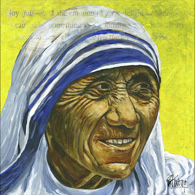 Painting - Saint Teresa by Stan Kwong