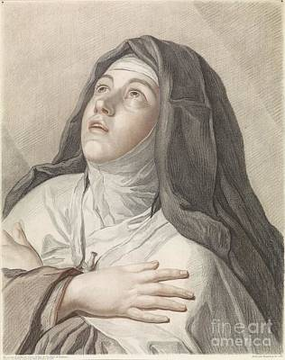 Painting - Saint Theresa In Prayer by Celestial Images