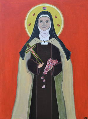 Saint Hope Painting - Saint Therese Of Lisieux by Danielle Tayabas