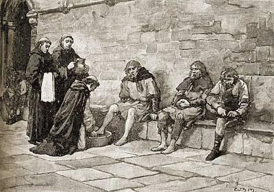 Thomas Becket Drawing - Saint Thomas Becket, C.1118-1170 by Vintage Design Pics