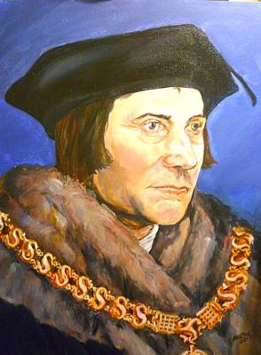 Painting - Saint Thomas More by Bryan Bustard