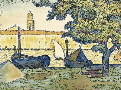 Tropez Painting - Saint-tropez by Celestial Images