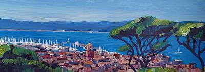 St.tropez Painting - Saint Tropez Summer Sun Seaview In France  by M Bleichner