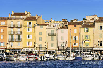 Saint-tropez Waterfront Art Print by John Greim
