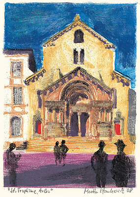 Art Print featuring the painting Saint Trophime Arles Provence by Martin Stankewitz
