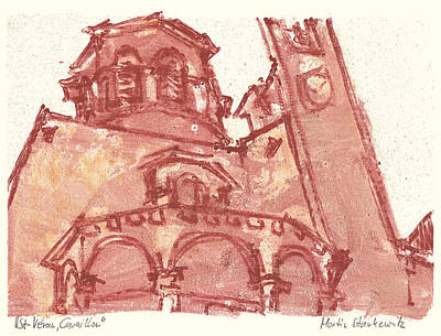 Art Print featuring the painting Saint Veran Cavaillon by Martin Stankewitz