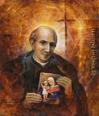 St. Vincent Painting - Saint Vincent Pallotti by Terezia Sedlakova Wutzay