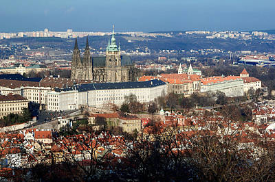 Photograph - Saint Vitus Cathedral 2 by Lawrence Boothby