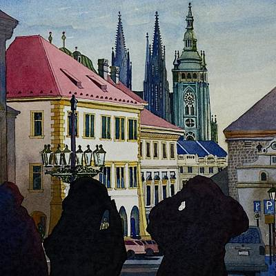 Painting - Saint Vitus Cathedral by Andre Salvador