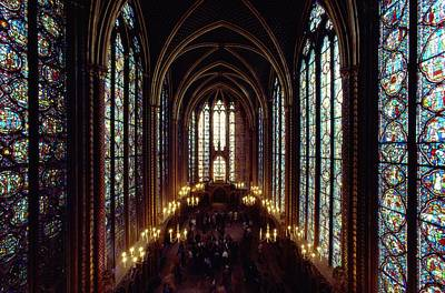 Lights And Lighting Photograph - Sainte-chapelle Interior Showing by James L. Stanfield
