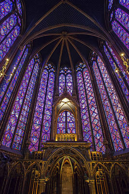 Chapelle Photograph - Sainte Chapelle Paris by Andrew Soundarajan