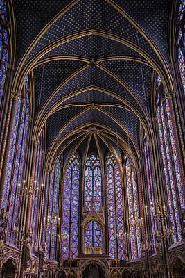 Sainte Chapelle Stained Glass Paris Art Print by Joan Carroll