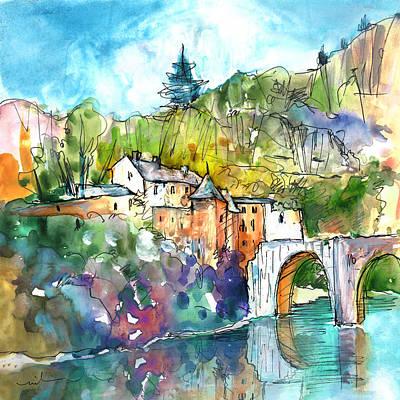 Impressionism Drawings - Sainte Enimie 01 by Miki De Goodaboom