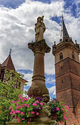 Photograph - Sainte-odile Fountain And Kappelturm In Obernai Village, Alsace, by Elenarts - Elena Duvernay photo