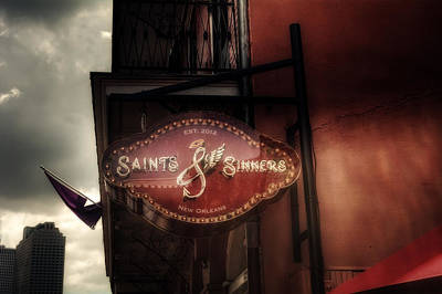Sinners Photograph - Saints And Sinners by Chrystal Mimbs