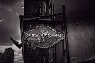 Sinners Photograph - Saints And Sinners In Black And White by Chrystal Mimbs