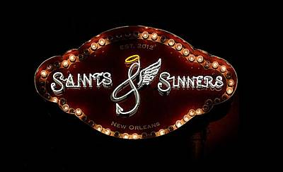 Photograph - Saints And Sinners by Nadalyn Larsen
