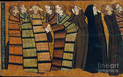 1295 Painting - Saints by Celestial Images