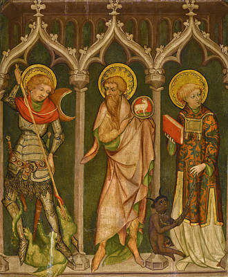 Painting - Saints George, John The Baptist And Cyriacus by Nicolaus Kentner the Elder